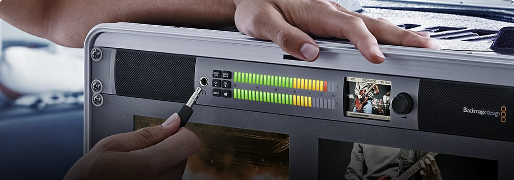 Blackmagic Design Audio Monitoring